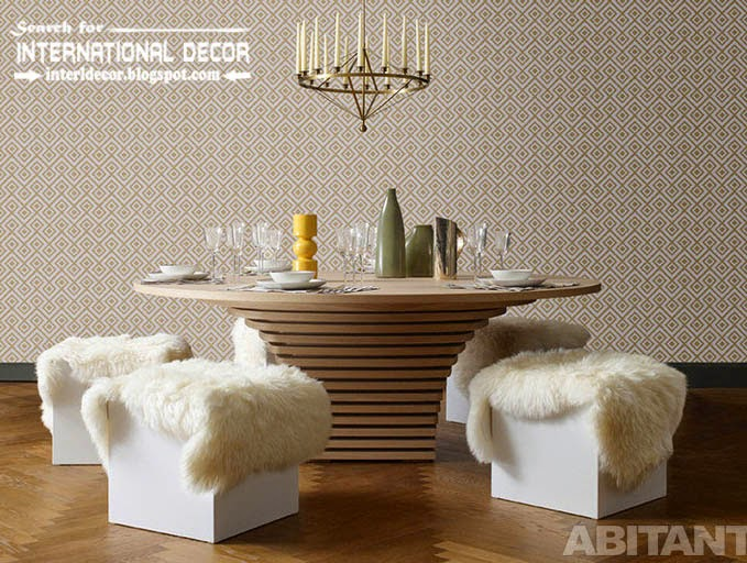Contemporary Dining Room Sets Ideas And Furniture 2015 Stylish Round Table Seats