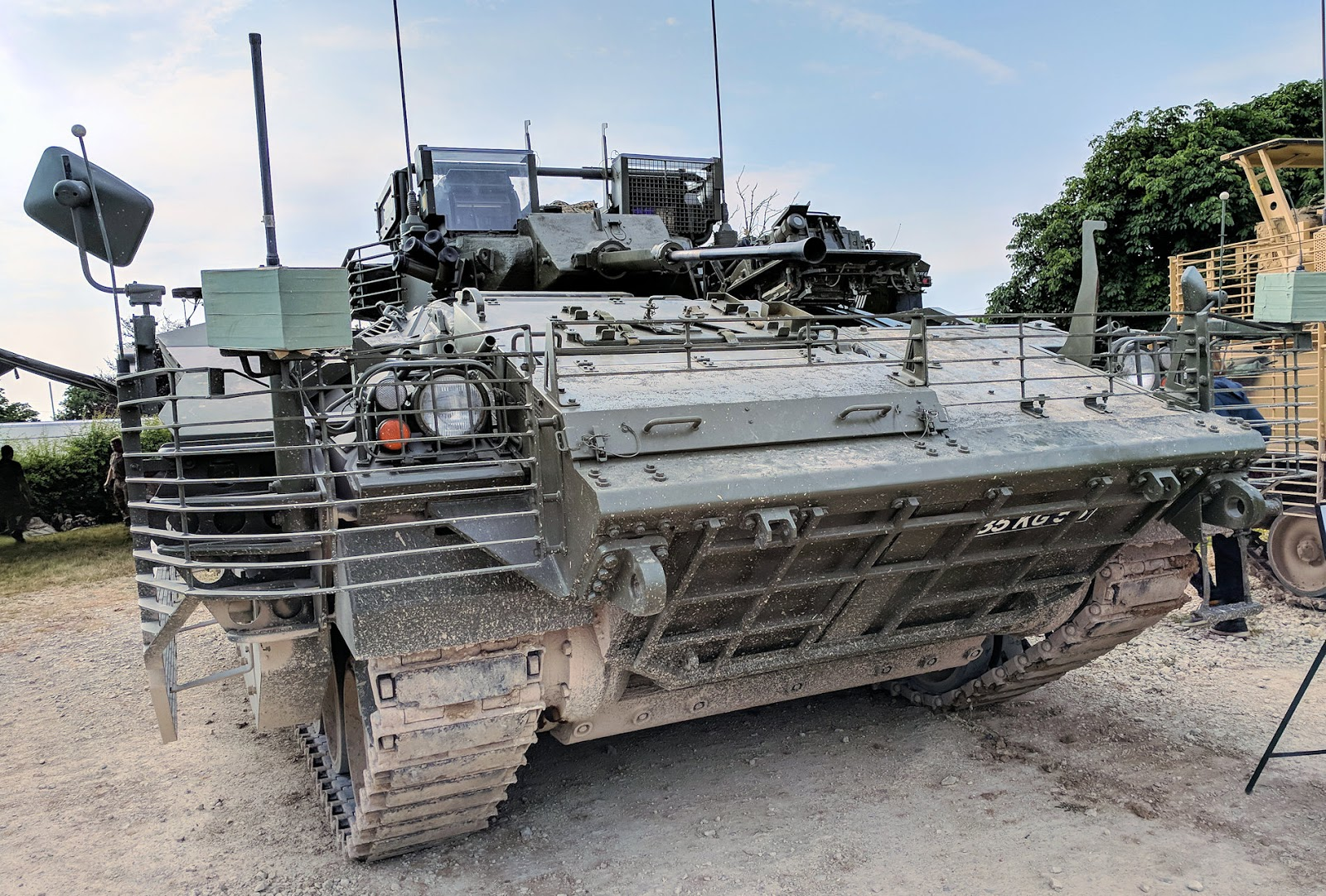 a7c3ed021727 It has the speed to keep up with the Challenger II in battle and firepower  and some limited armour. The HEAT shields on the sides and reactive armour  act as ...