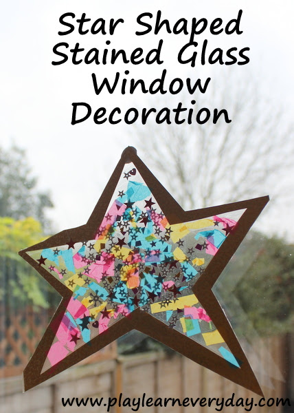 Star Shaped Stained Glass Window Decoration