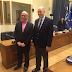 Büyükelçimiz Sayın Kerim Uras, Yunan Meclisi Savunma ve Dışişleri Komisyonu Başkanı Konstantinos Duzinas'ı 18 Şubat 2016 tarihinde Meclis'te ziyaret etmiştir.