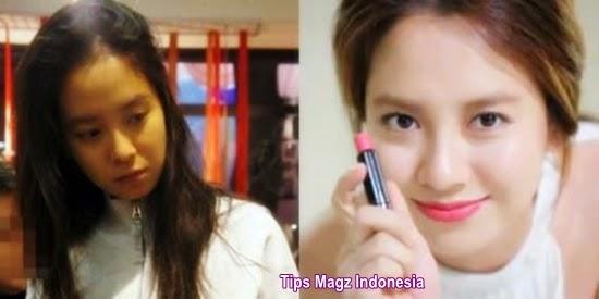 artis korea Song Jihyo saat tanpa makeup