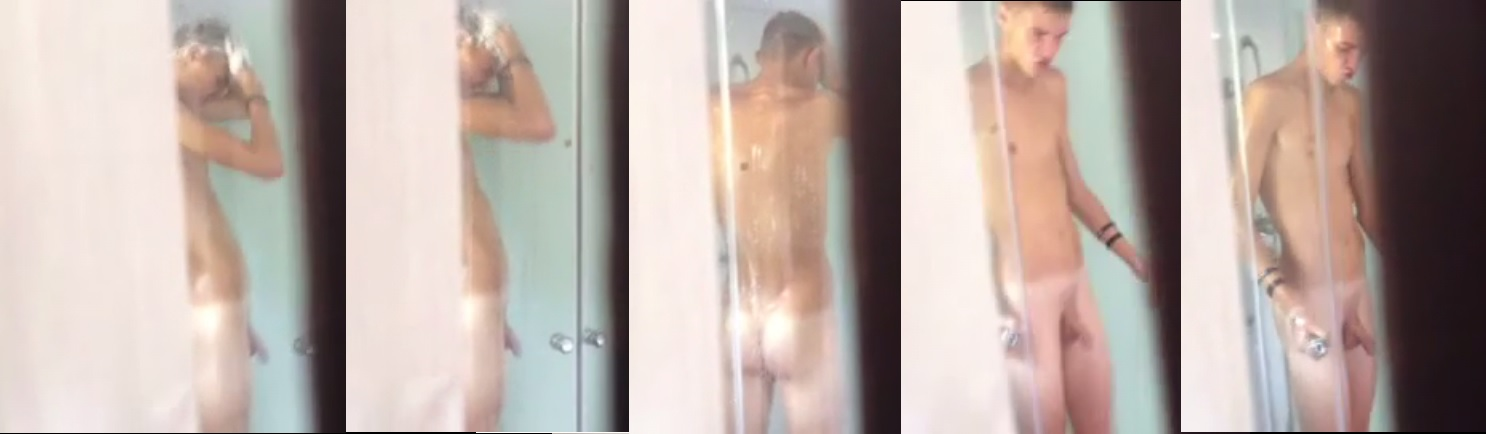 naked boy in the bathroom