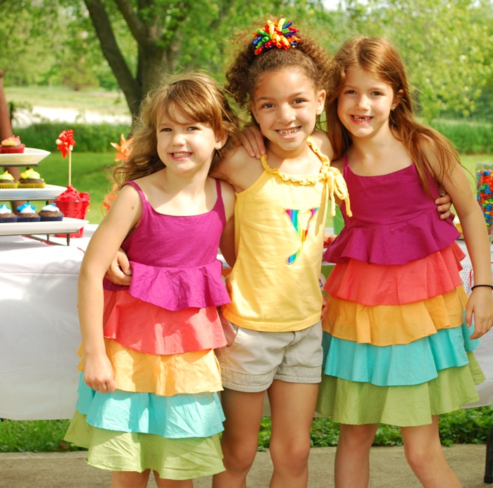 Rainbow Birthday Party Games A Rainbow 7th Birthday Party - via BirdsParty.com