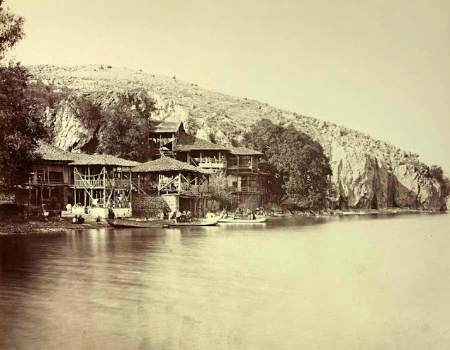 Ohrid   Kalishta monastery on Lake Ohrid view from the south End of September 1863 - Macedonia in 1863 - Photo Collection of Josef Székely