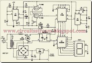 Simple Electromagnetic Ring Launcher Circuit Diagram