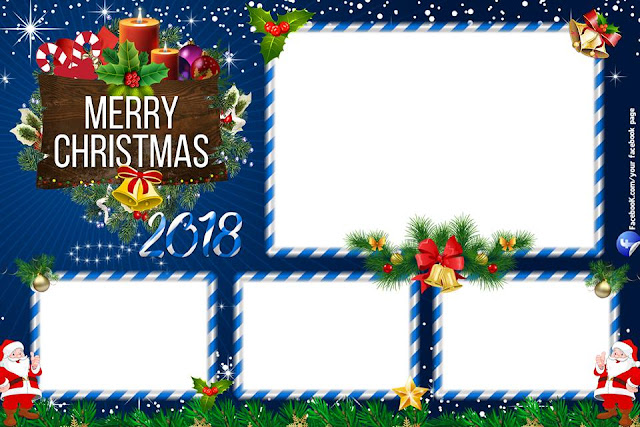 Free Dsrlbooth template Christmas blue (psd)