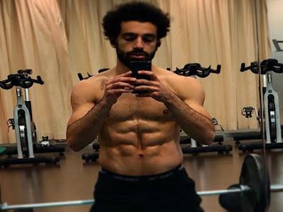 محمد صلاح, العضلات, عضلات البطن, كمال أجسام, الجيم, نظام غذائي, ليفربول, المنتخب الوطني,