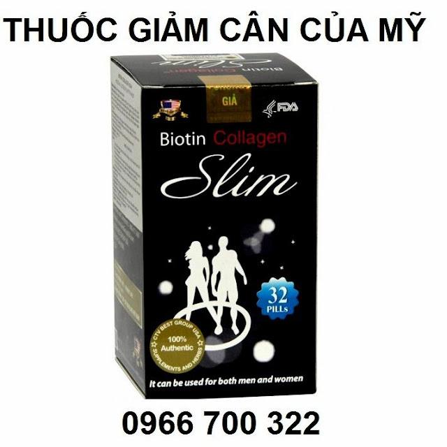 Thuốc giảm cân của mỹ Biotin collagen slim