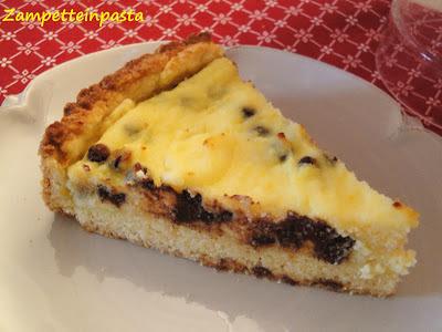 Crostata morbida di ricotta e cioccolato - Dolci con la ricotta