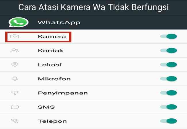 Cara Mudah Mengatasi Kamera Whatsapp WA Tidak Berfungsi Terbaru