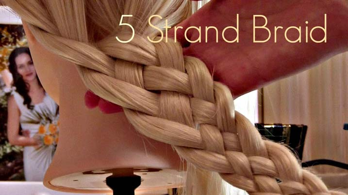 5 Easy Steps To 5 Strand Braid With Video Tutorial Muvicut