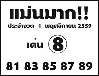 Thai Lotto down direct Sets Tip 01 november 2016