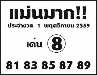 Thai Lotto down direct Sets Tip 01 november 2016