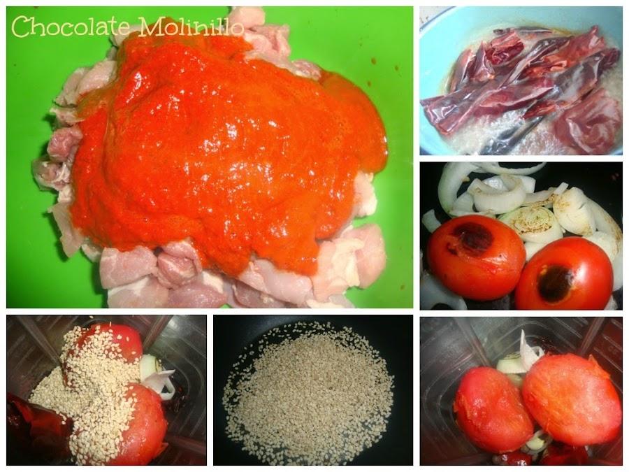 Cerdo con Chile rojo