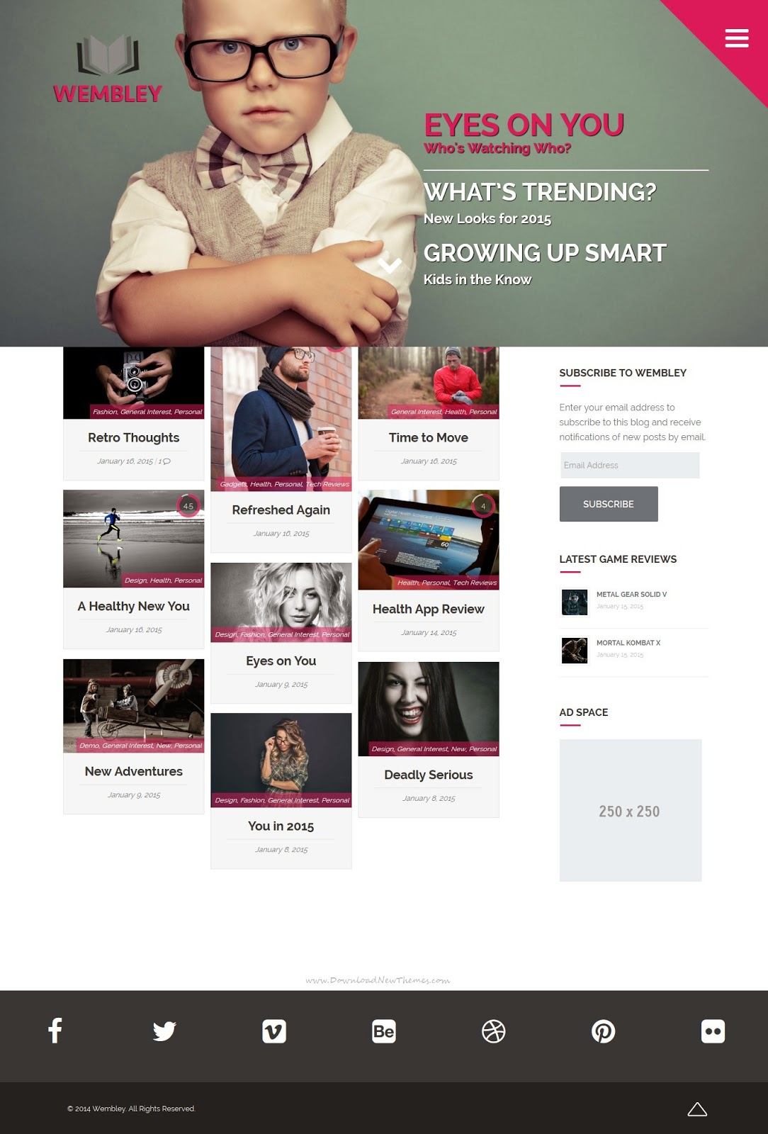 Premium News Magazine Blog WordPress Theme 2015
