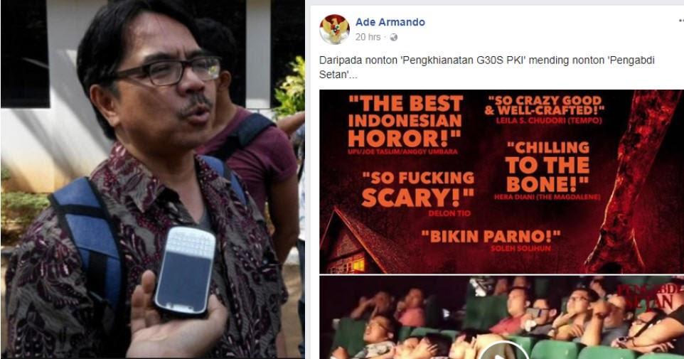 Ade Armando Dikecam Publik Atas Tulisan : Daripada Nonton