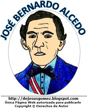 José Bernardo Alcedo compositor del himno peruano. Dibujo de José Bernardo Alcedo para niños. Dibujo de José Bernardo Alcedo hecho por Jesus Gómez