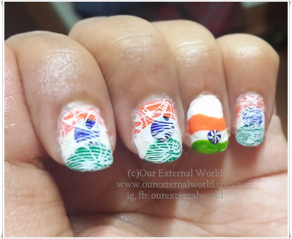 Pakistan Independence Day Nail Art 4 Designs: Indian Tricolor Nail Art- Celebrate The Colors Of Freedom