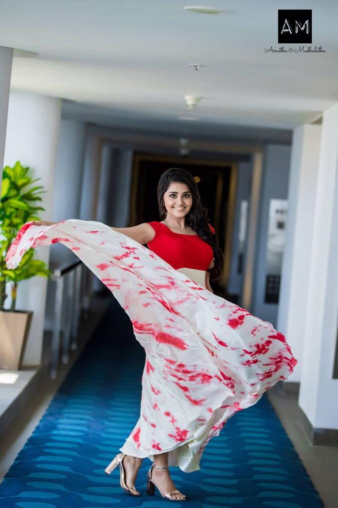Indian Actress Anupama Parameswaran Hot Photo Shoot In Red Dress