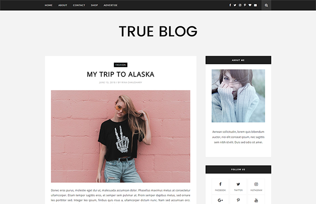 TrueBlog - Best blogging Blogger Template