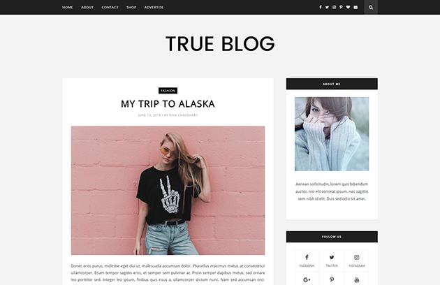 Theme Themexpose Download TrueBlog Blogger Blogspot Template Gratis Premium