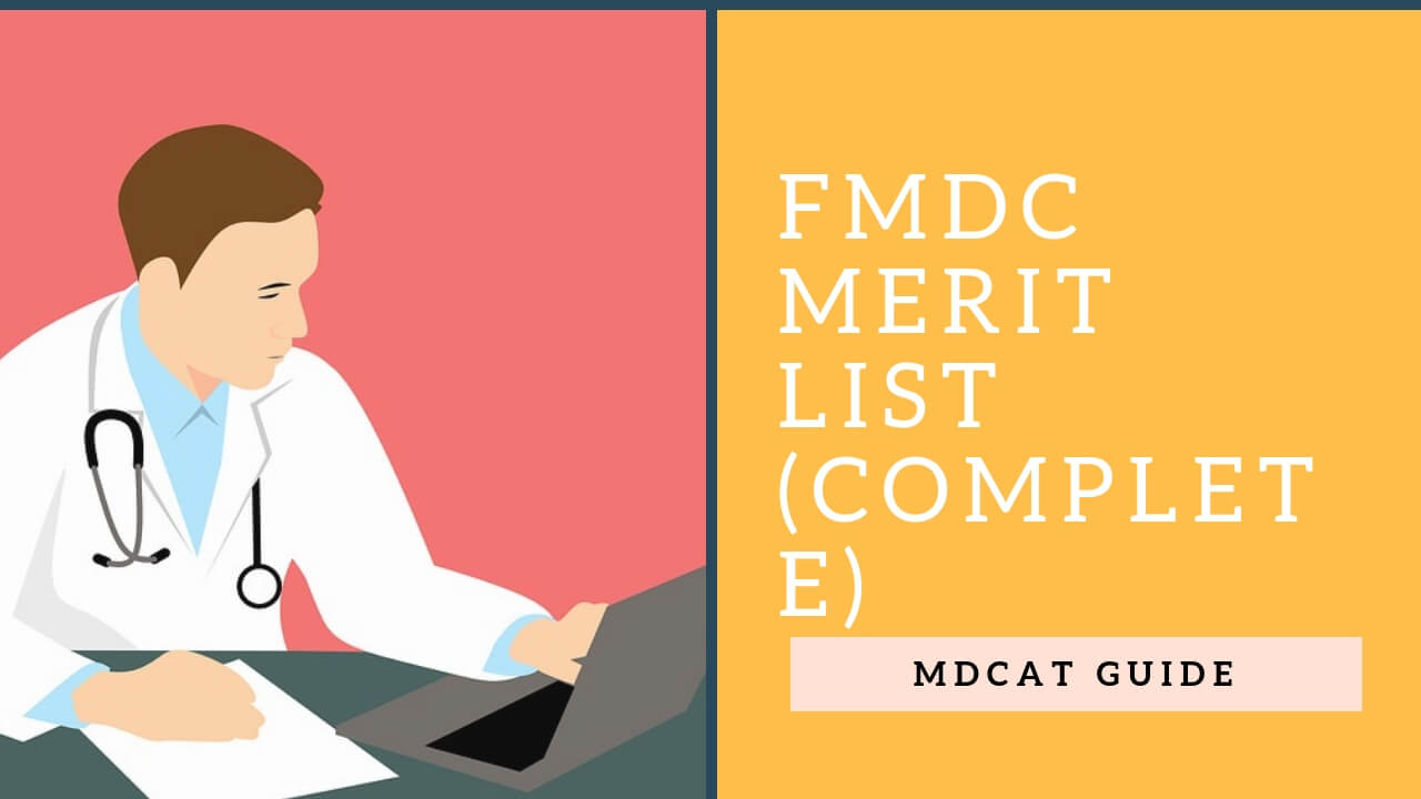 FMDC 2019 Merit List (Complete) | MDCAT Guide