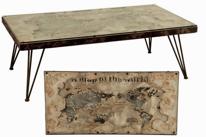Mesa baja salon metalica