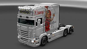 SLAMDUNK skin for Scania RJL