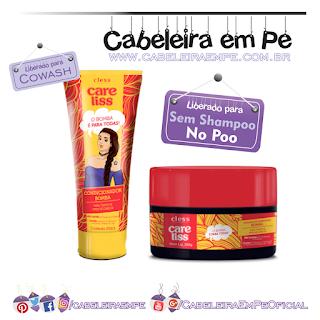 Produtos liberados da linha Bomba - Care Liss (Condicionador e Máscara Liberados para No Poo)