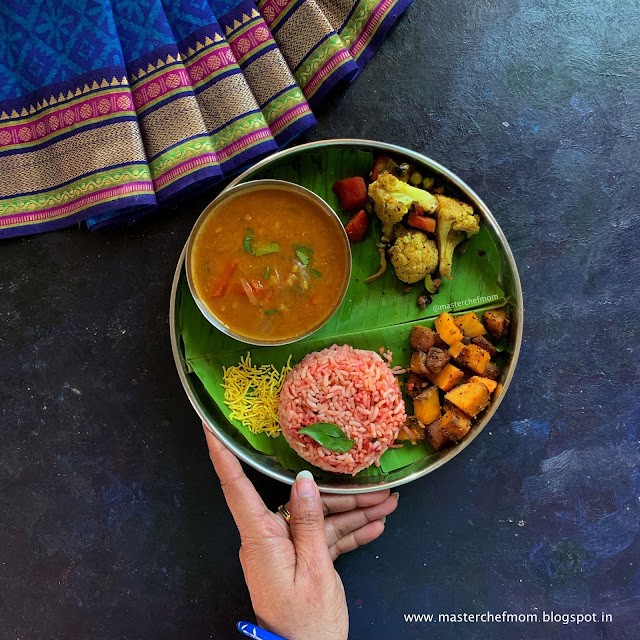 Strawberry Puliyogare Thali