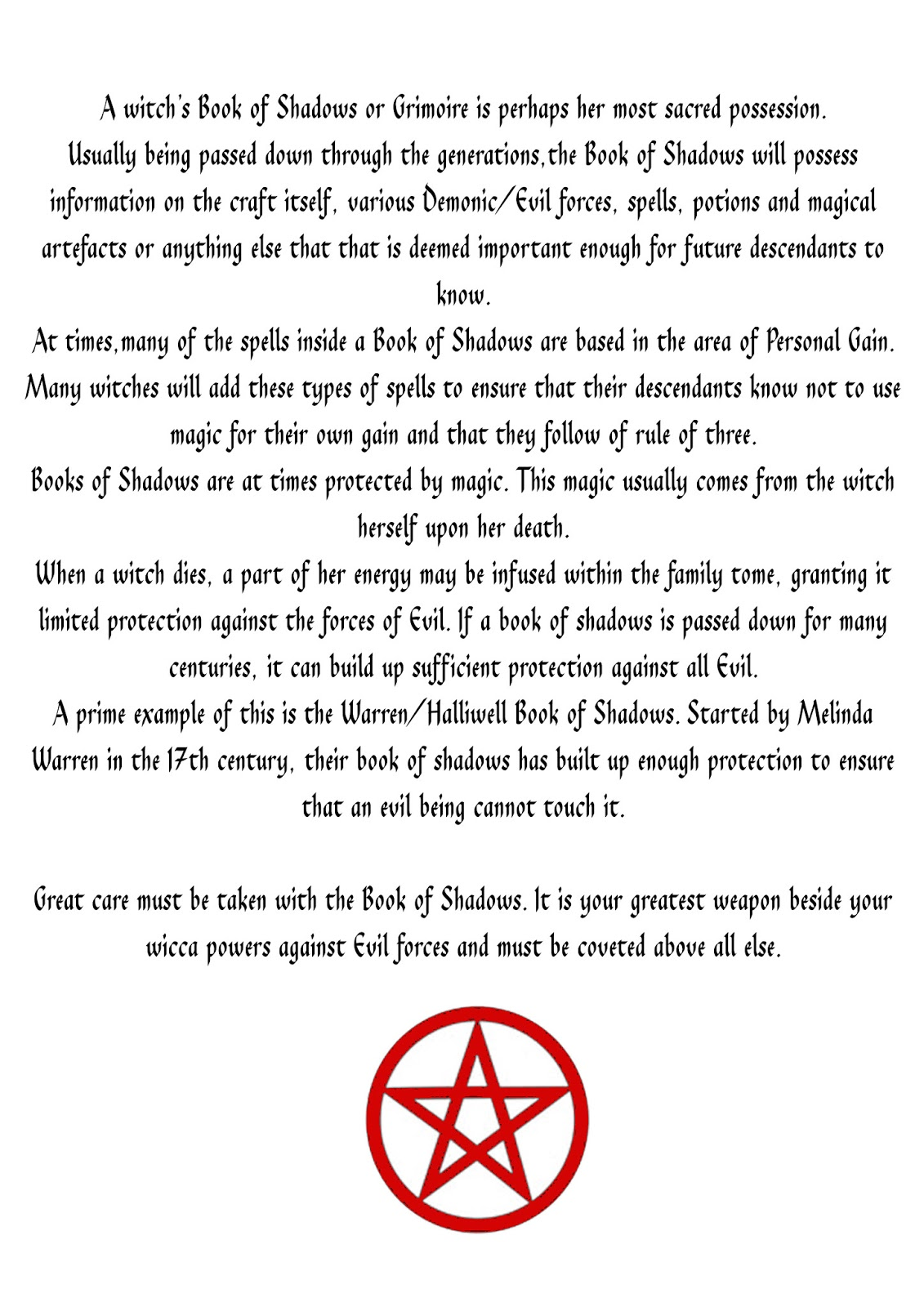 Book Of Shadows Pages 04 17 13
