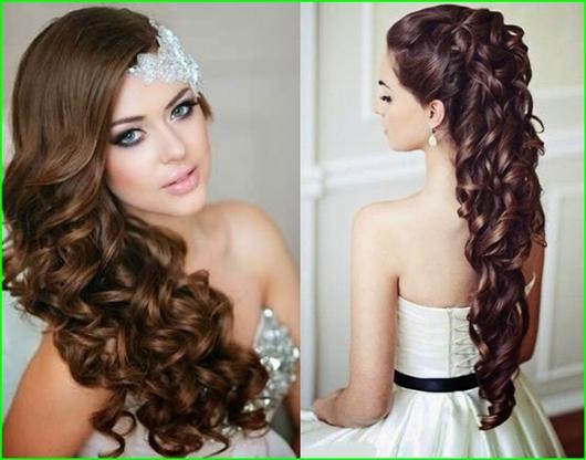 20 Brautfrisuren für lange lockige Haare