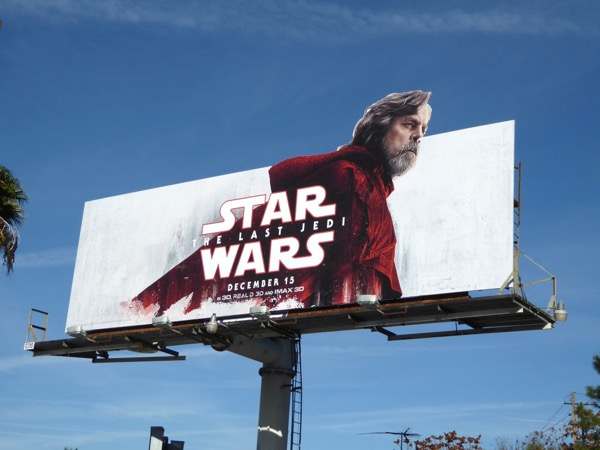 Star Wars Last Jedi Luke Skywalker billboard