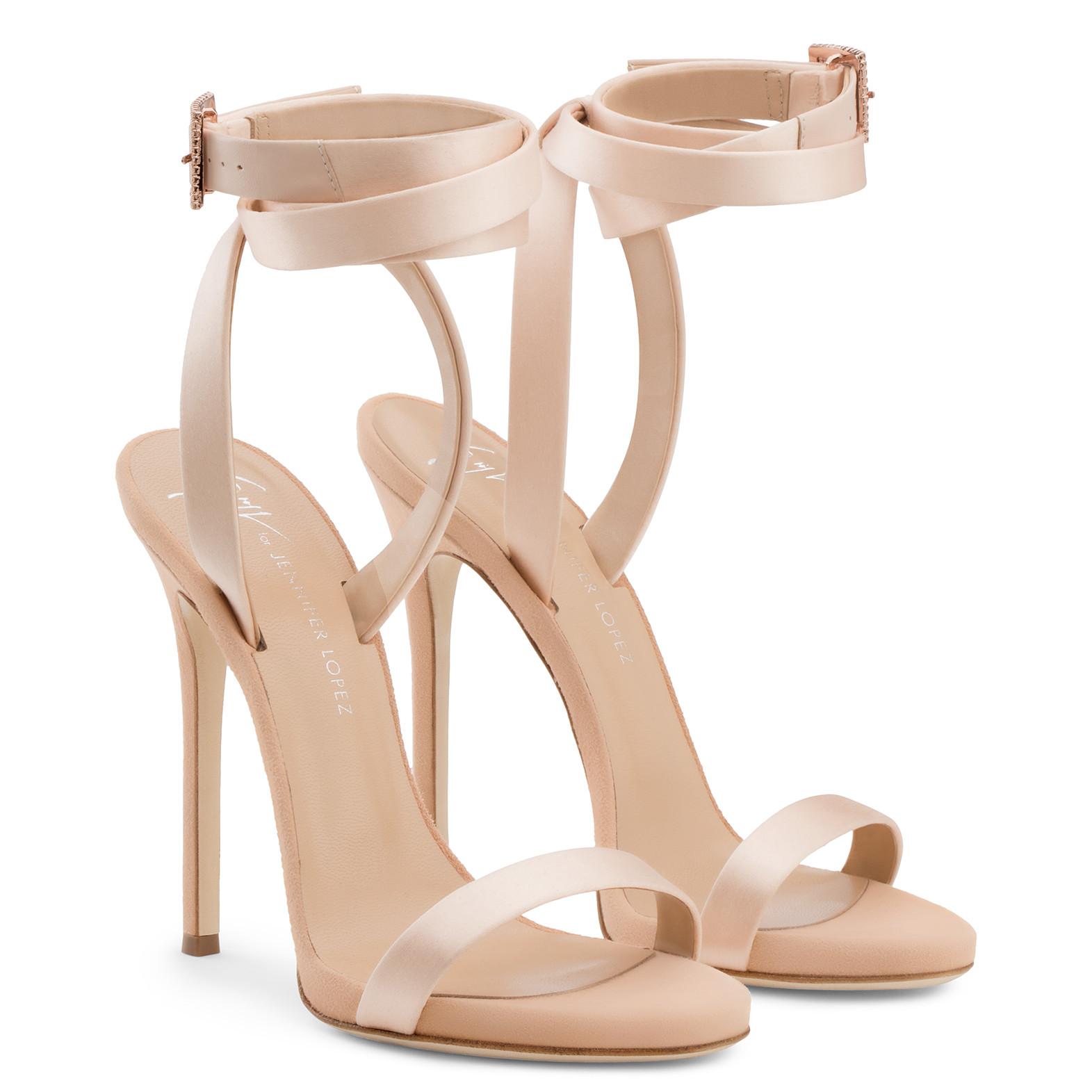 db17e24035408 Giuseppe Zanotti for Jennifer Lopez Tiana Crystal High-Top Wedge Sneaker,  Gray.