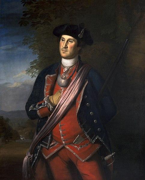 George Washington, hero of Monongahela en peinture