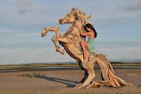 caballo tallado en madera