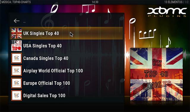 Addon TOP 40 CHARTS