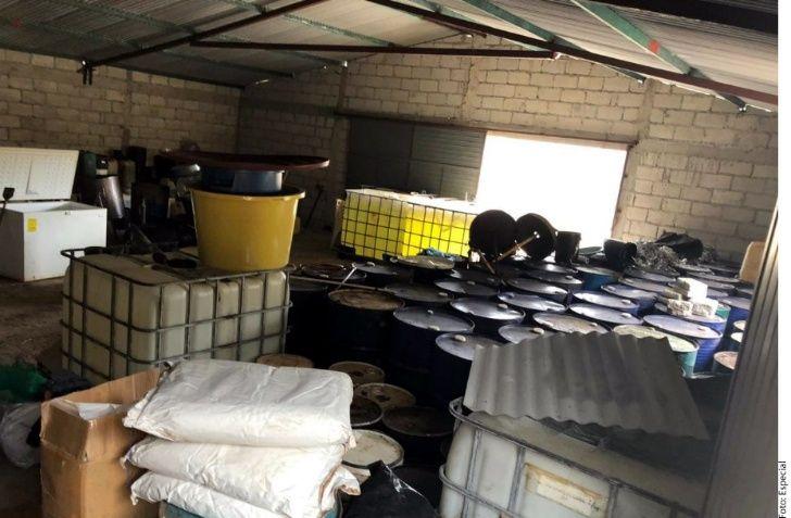 Fuerza Civil asegura Narcolaboratorio en Veracruz