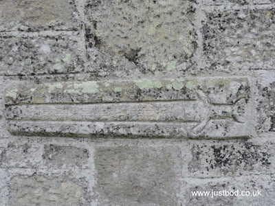 Carved 'viking' sword, St Mary the Virgin, Ebberston, Yorkshire