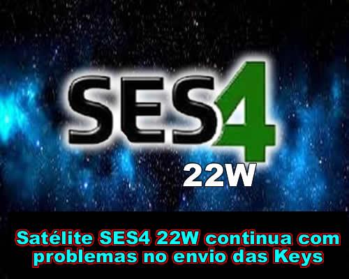 NOVO TP DE KEYS DO SATÉLITE SES4[22W] CONTINUA COM SINAL FRACO E SKS FICA INSTÁVEL