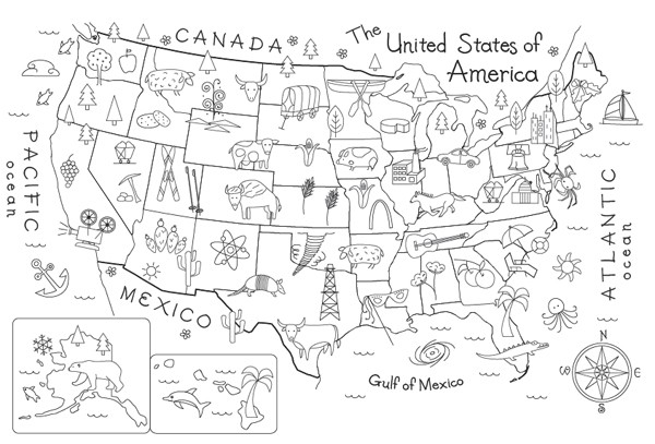 Fill In And Color Each Of The Maps Or Worksheet