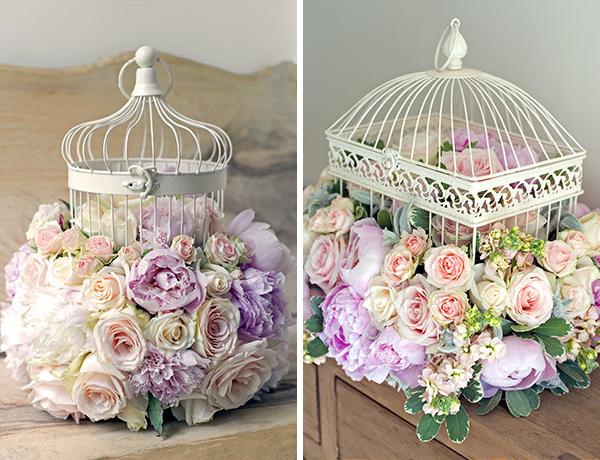 Decorated-wedding-birdcage Tantissime gabbiette intagliate...Partecipazioni shabby chic - country - vintage Stile Shabby Chic