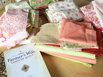 Farmer's Wife Quilt - Prepping English Paper Piecing