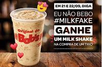 Promoção Bob's 'Eu não bebo #MilkFake'