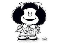 Mafalda sonriendo