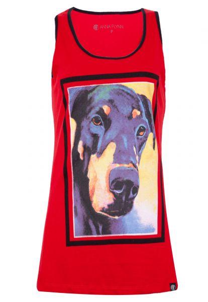 Anna Flynn Blusa Anna Flynn Dog Vermelha