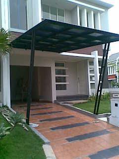 baja ringan teras rumah kanopi rangka besi holo galvanize ~ canopy dan atap