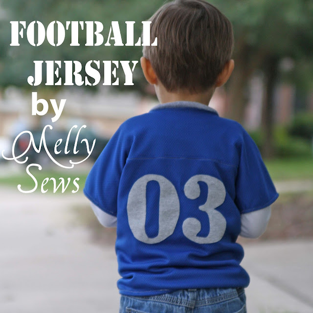 Football jersey tutorial by Melly Sews