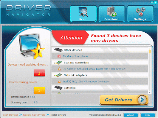 Driver Navigator Pro 3.6.5 Full Version with Crack