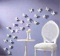 Duvarlara Kelebek Süsleme Yapımı